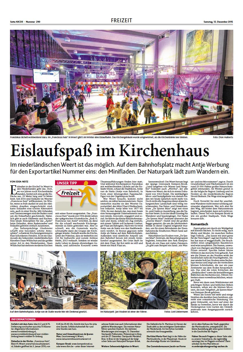 Aachener Zeitung Urlaubsservice